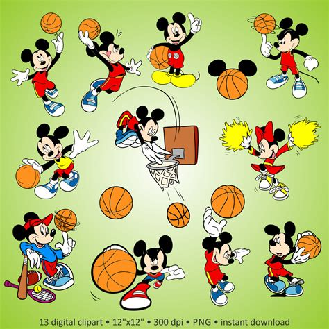Myu Mickey Buy 2 Get 2 buy 2 get 1 free digital clipart quot mickey mouse basketball quot characters disney fantastic