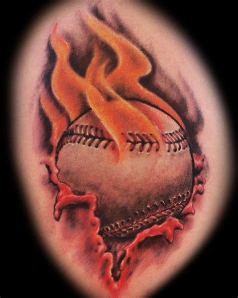 tattoo burning 40 burning tattoos baseball tattoos