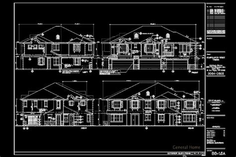 Triplex Plans by Autocad Drafting Las Vegas Condo General Home