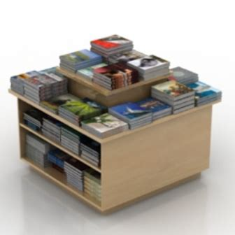 movable bookshelf free 3dmax model free no3084
