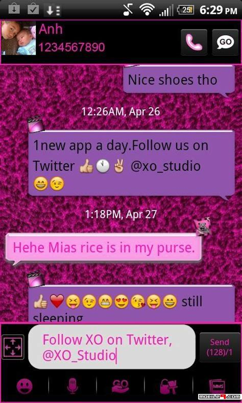go sms pro pink leopard theme android apps apk 2913291 go sms pro pink leopard