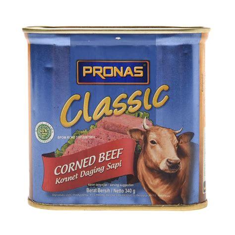Pronas Corned Beef Kornet Daging Sapi 340 Gram Ko jual pronas classic corned beef 340g 0301010012 harga kualitas terjamin blibli