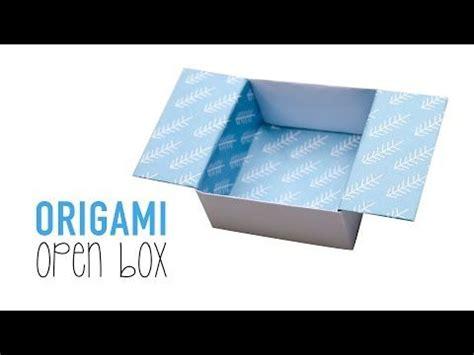 Origami Open Box - origami open box tutorial diy origami