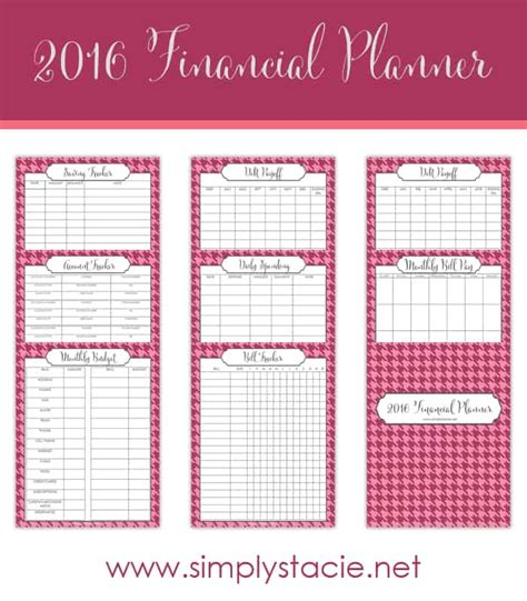free printable 2016 budget planner free 2016 financial planning printables simply stacie