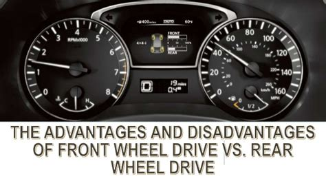 Front Vs Rear Wheel Drive by The Advantages And Disadvantages Of Front Wheel Drive Vs