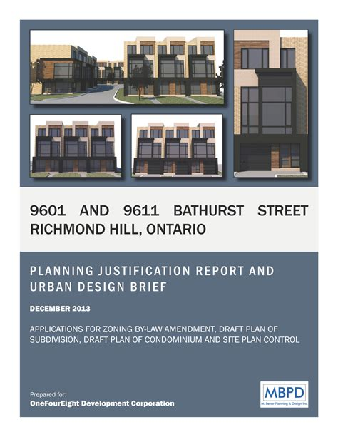 urban design brief template 9601 9611 bathurst street richmond hill mbpd