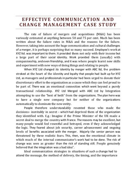 Change Management Essays by An Essay On Change Management