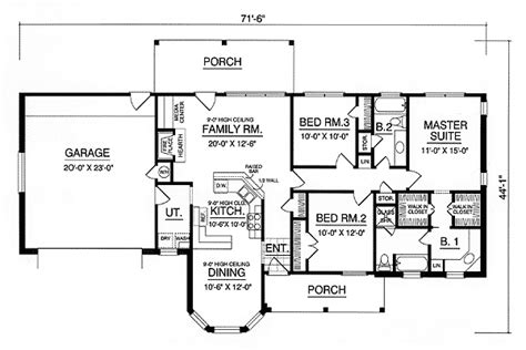 American House Plans With Photos by Affordable American Country Home 7472rd 1st Floor