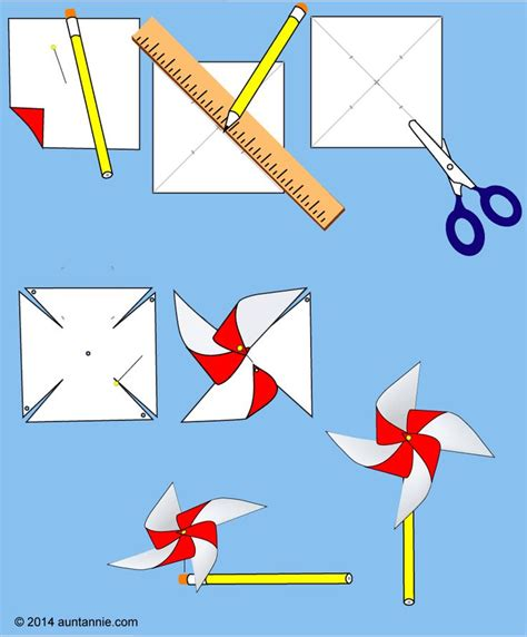 Paper Windmills - easy pinwheel pinwheels search and tutorials