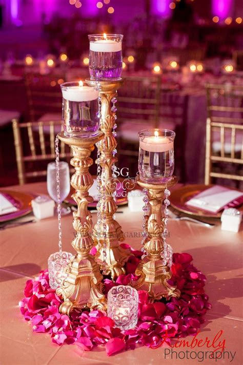 Wedding Theme Idea Pink And Gold Our One 5 by Best 25 Indian Wedding Centerpieces Ideas On