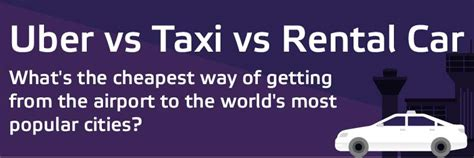 rental cars  uber  taxi whats  cheapest infographic
