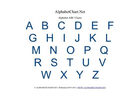 alphabet chart free printable alphabet charts in 7 colors alphabet