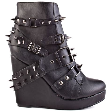 109 studded wedge bootie black 89 99 free