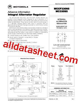 mccf33095 datasheet pdf motorola inc