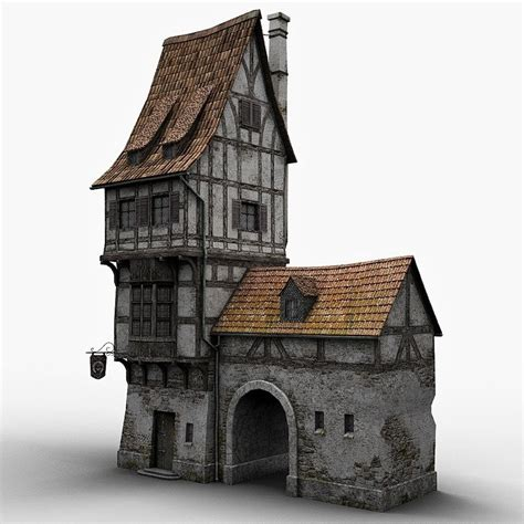 fantasy houses fantasy old blacksmith house obj