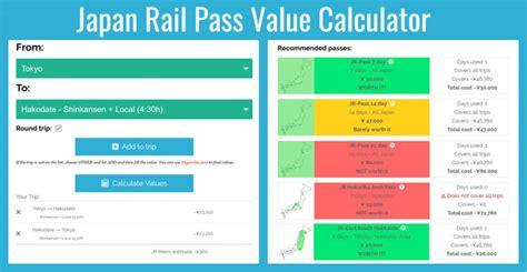 Calculator Jr Pass | the japan rail pass discounted travel on japan railways