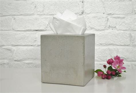 Paper Cover - concrete tissue box cover kleenex tissue box cover square