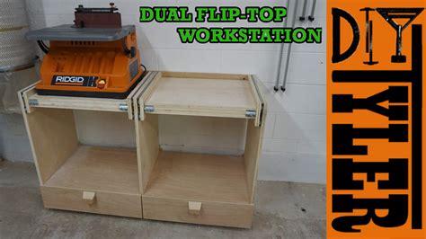 flip top tool bench double flip top workstation diytyler