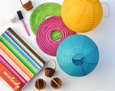 How To Make Paper Balloon Lanterns - paper lantern air balloons make lovely