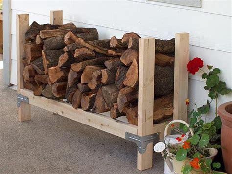 Simple Firewood Rack by 9 Easy Diy Outdoor Firewood Racks The Garden Glove
