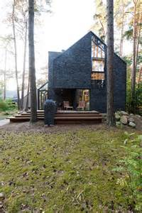 Forest House by Modern Forest House Dedicated To Blues Music Black House