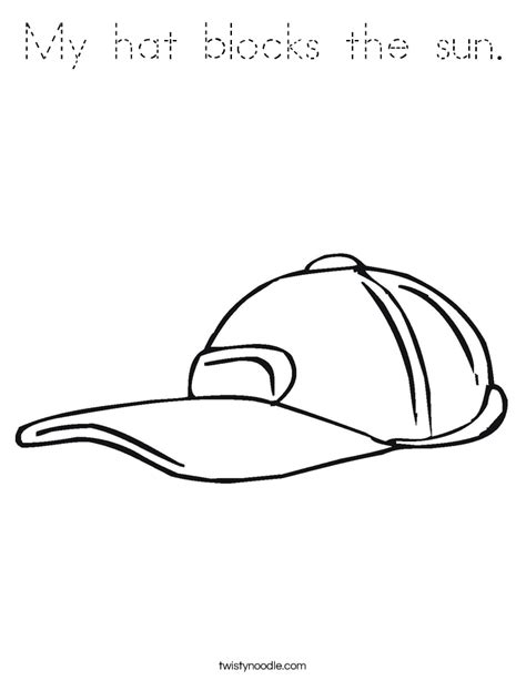 sun block coloring page my hat blocks the sun coloring page tracing twisty noodle