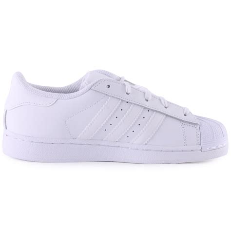 adidas superstar leather white white trainers new