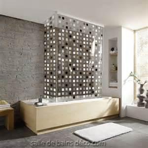 rideau de baignoire store d angle mosaque grise