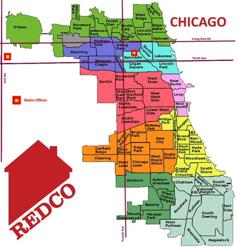chicago map of neighborhoods chicago neighborhood map