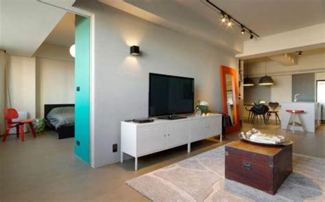 bild schienenbeleuchtung modernes wohnen minimalistische trendy wohnung in taipei
