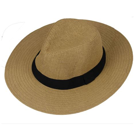 Fedorafashion Hem No 95 1 new mens womens straw panama hat wide brim fedora trilby style summer cap ebay