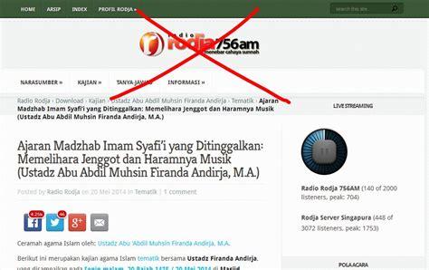 Tv Rodja ajaran madzhab imam syafi i yang ditinggalkan propaganda