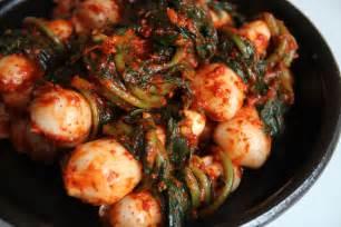 ponytail kimchi chonggak kimchi recipe maangchi com