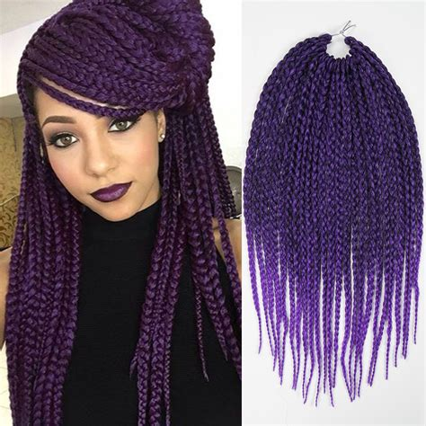 crochet braids with expression hair purple ombre braiding hair synthetic dreads box braids