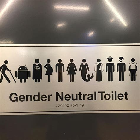 gender neutral bathroom signs s gender neutral bathroom sign has batman jedi
