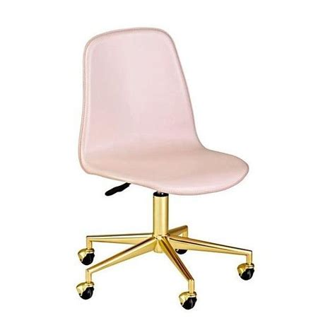 light pink office chair class act pink gold desk chair liked on polyvore featuring