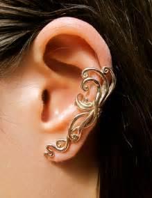 ear earring ear cuff swirl earring spiral earring ear wrap bronze