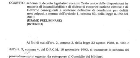 legge severino testo incandidabilit 224 di silvio berlusconi il governo di mario