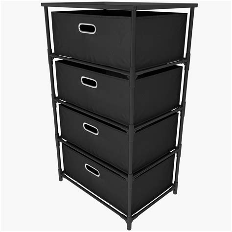 Canvas Drawers Storage by Drawer Canvas Storage Black 3d Max