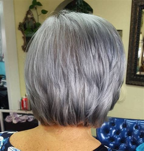 short styles for thick grey hair 60 gorgeous hairstyles for gray hair
