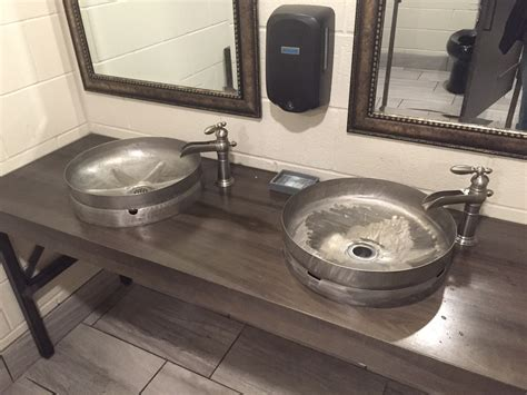 Cedar Springs Brewery Bathroom Keg Sinks Grand Rapids
