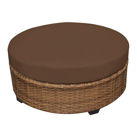 rattan round ottoman round wicker ottoman for your living room home furniture