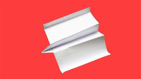Origami Boomerang Easy - how to make a boomerang paper airplane that comes back to you