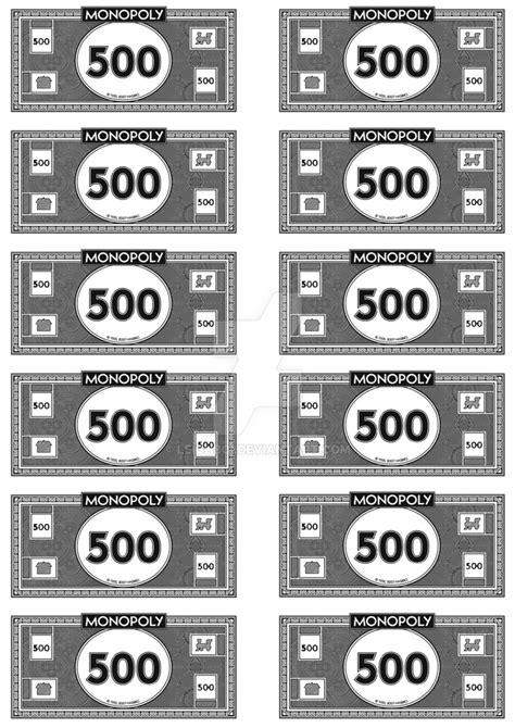 monopoly money 500 s by leighboi on deviantart