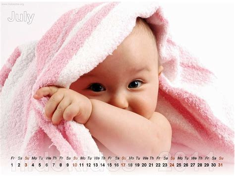 cute baby calendar 2011