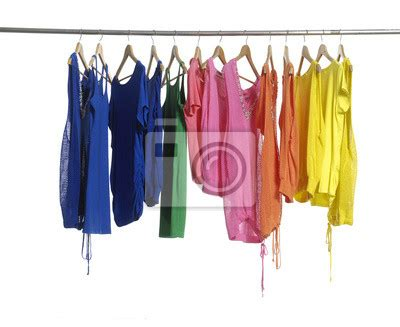 Cloth Wall Murals wall mural set of fashion female clothing hanging on