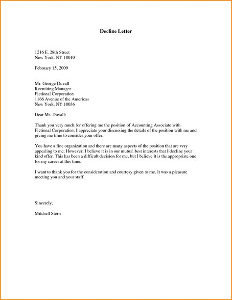 Decline Letter Invitation Letter Of Declining An Invitation Invitation Librarry