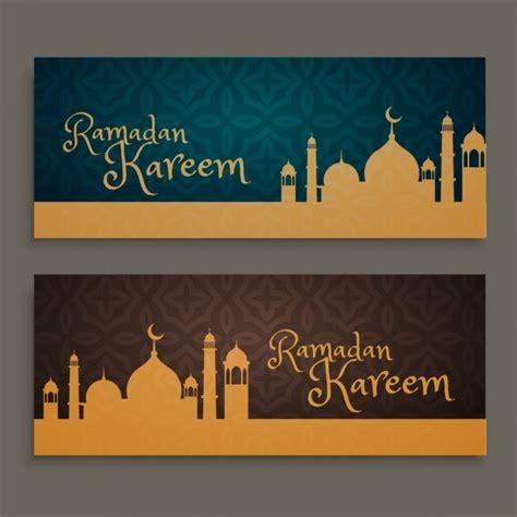 design banner ramadan ramadan kareem banners set vector free download