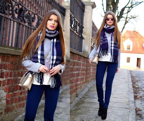 Zoya Scarf 8 zoya onlymyfashionstyle blue tartan scarf