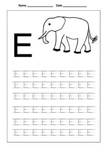 letter e tracing pages for coloring point